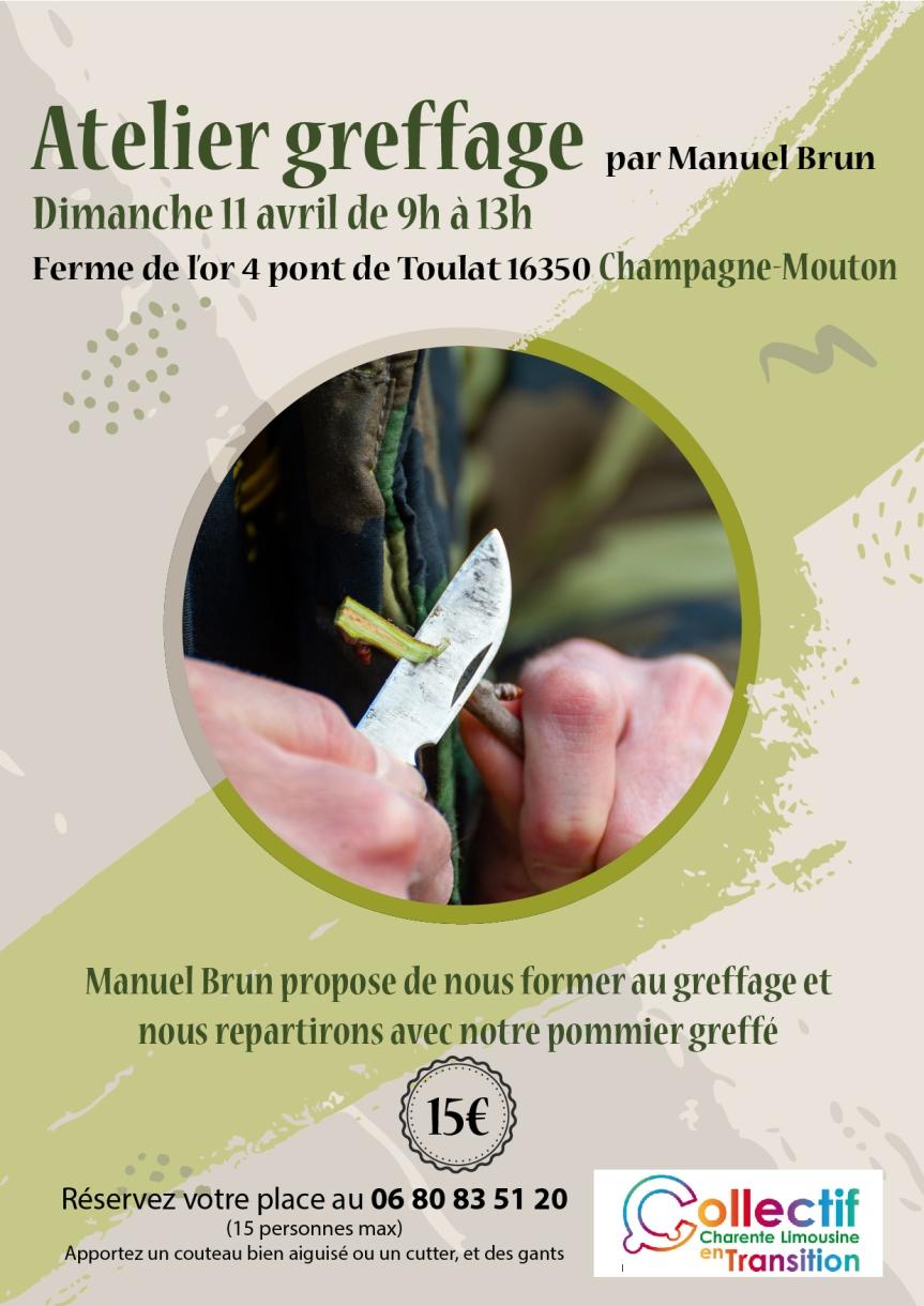 11 avril 2021 – Atelier greffage à Champagne-Mouton